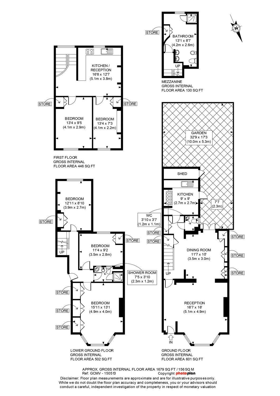 Floorplan 218 Shirland Road First Floor Photoplan360 Property Marketing